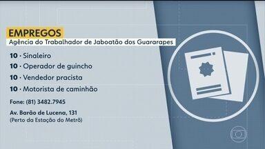 Confira vagas disponíveis na Agência do Trabalhador de Jaboatão - Há oportunidades para sinaleiro, vendedor, motorista de caminhão, entre outras.