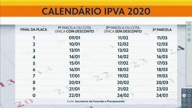 Pagamento do IPVA 2020 - Termina hoje prazo para motoristas com placa final 1 pagarem com IPVA à vista com desconto
