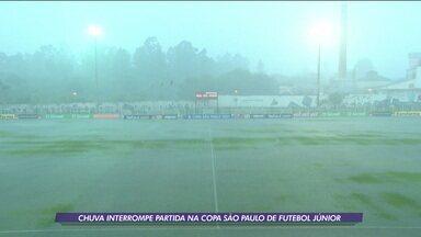 Em jogo interrompido por chuva, Real-DF vence a Juventus-SP de Virada na Copa SP de Futebol Júnior - Em jogo interrompido por chuva, Real-DF vence a Juventus-SP de Virada na Copa SP de Futebol Júnior