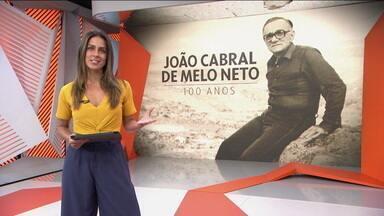 Centenário de brilhante escritor, João Cabral de Melo Neto é homenageado no Globo Esporte - Centenário de brilhante escritor, João Cabral de Melo Neto é homenageado no Globo Esporte