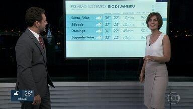 Rio tem previsão de temporais no fim de semana - O fim de semana terá dias de típicos dias de verão: calor durante o dia e chuva no fim da tarde e no início da noite.