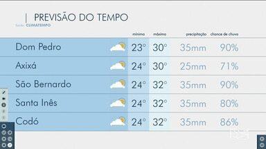 Veja as variações das temperaturas no Maranhão - Confira a previsão do tempo nesta sexta-feira (10) em São Luís e também no interior do estado.