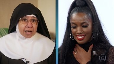 IZA recebe mensagem de freira que foi sua babá e de tia-avó - Cantora relembra sua infância