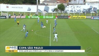 União perde para Grêmio por 1 x 0 e deixa a Copa SP - União perde para Grêmio por 1 x 0 e deixa a Copa SP