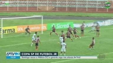 Botafogo-SP vence Atlético-GO e garante vaga nas oitavas de final - Jogo aconteceu na segunda-feira (13) em Bauru, SP