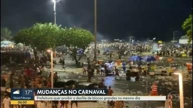 Prefeitura quer proibir que dois blocos grandes desfilem no mesmo dia na Zona Sul - A intenção é evitar o que ocorreu na abertura oficial do carnaval, realizada em Copacabana.