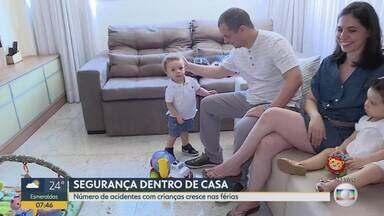 Acidentes com crianças são mais comuns nas férias - Bombeiros orientam pais sobre os riscos dentro de casa.