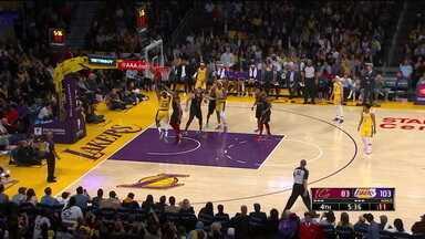 No reencontro com o Cleveland, Lebron brilha em vitória do Lakers - No reencontro com o Cleveland, Lebron brilha em vitória do Lakers