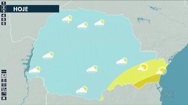 Previsão de chuva para hoje no Noroeste - Máxima fica na casa dos 30º na região Noroeste nessa terça-feira (14).