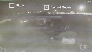 Novas imagens mostram momento da derrubada do Boeing da Ukraine Airlines em Teerã - Dois mísseis iranianos atingiram o avião matando 176 pessoas em Teerã, na semana passada.