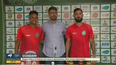 Guarani volta a treinar em casa e apresenta dois novos atacantes - Bruno Sávio e Pablo já têm situação regularizada na equipe.
