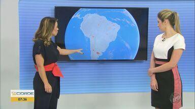 Confira a previsão do tempo para as regiões central e de Ribeirão Preto nesta quarta (15) - Sol e calor predominam nas cidades. Em São Carlos (SP), máxima chega a 29º C.