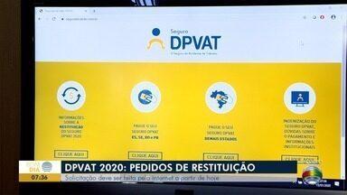 Pedidos de restituição para quem pagou a mais no DPVAT começam nesta quarta-feira - Solicitações devem ser feitas pela internet.