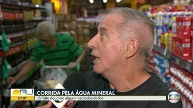 Falta água em mercados do Rio - Preço também subiu.