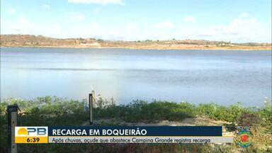 Após chuvas, açude de Boqueirão registra recarga - Confira os detalhes com o repórter Felipe Valentim.