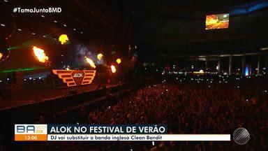 Alok substitui Clean Bandit e é uma das atrações confirmadas no Festival de Verão 2020 - A festa acontece no mês de fevereiro, em Salvador.