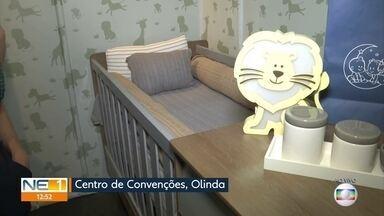 Feira oferece oportunidades para montar enxoval de bebê - Evento acontece no Centro de Convenções, em Olinda.