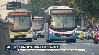 Rio de Janeiro tem o maior tempo de deslocamento no transporte público, em todo o país - Os passageiros levam em média 67 minutos no transporte. Mas esse tempo pode chegar até duas ou três horas.