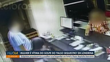 Mulher é vítima do golpe do 'falso sequestro', em Londrina - Golpistas pressionaram a mulher para se hospedar em hotel sem avisar ninguém e fazer depósitos bancários.
