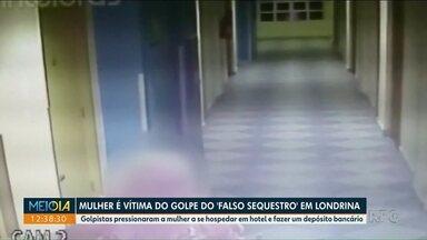 Mulher vai para hotel a pedido de bandidos e cai no golpe do falso sequestro - Caso foi registrado em Londrina. A vítima tem 66 anos.
