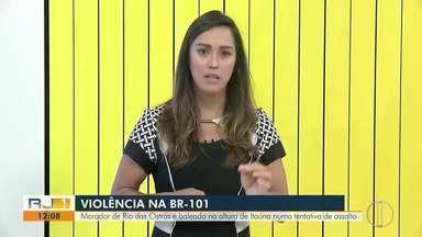 Morador de Rio das Ostras, RJ, é baleado na altura de Itaúna numa tentativa de assalto - Vítima tinha levado a filha para tratamento no Hospital de Caxias.