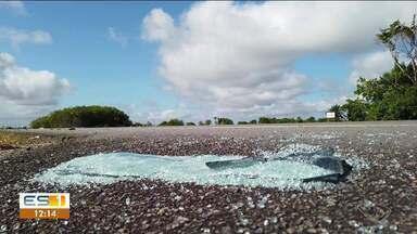 Motorista envolvido em acidente na estrada de Pontal do Ipiranga presta depoimento, no ES - Linha de investigação é de que a batida foi proposital.