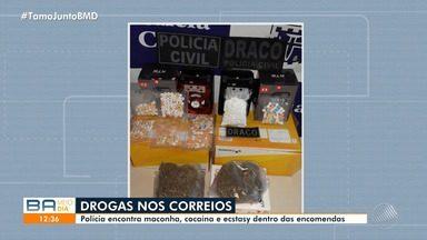 Polícia encontra drogas dentro de encomendas dos Correios, que fica na Via Parafuso - Entre as substâncias ilegais, estão maconha, cocaína e ectasy.