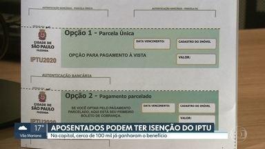 Aposentados podem ter desconto total ou parcial no IPTU - O aposentado que já teve a isenção nos anos anteriores vai receber uma notificação zerada, sem cobrança nenhuma.