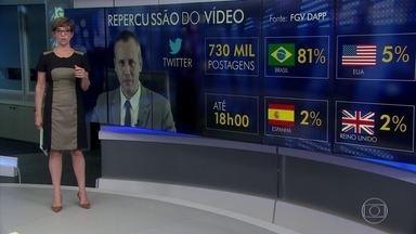 Vídeo do ex-secretário repercutiu mal na internet e internacionalmente - Um levantamento feito no Twitter pela diretoria de análise de políticas públicas da Fundação Getúlio Vargas mostra que quase 100% das mensagens foram de repúdio. Na imprensa internacional, diversos jornais publicaram a notícia.