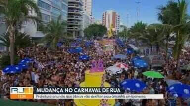 Prefeitura anuncia que blocos Simpatia É Quase Amor e Banda de Ipanema vão desfilar de manhã - A ideia da prefeitura é que apenas um megabloco aconteça por dia, e no Centro. A mudança não agradou os organizadores dos blocos.