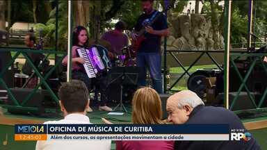 Músicos se reúnem em Curitiba para a 37ª Oficina de Música - Além dos cursos, as apresentações movimentam a cidade.