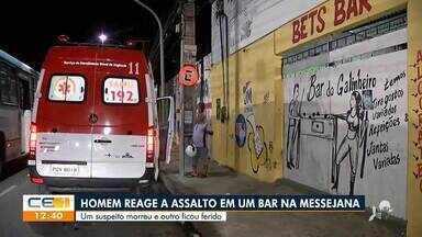 Homem reage a assalto em um bar em Messejana - Saiba mais em g1.com.br/ce