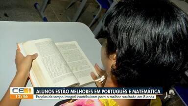 Educação no Ceará: Alunos estão melhores em Português e Matemática - Saiba mais em g1.com.br/ce