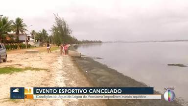 Evento esportivo aquático é cancelado devido as condições de água da Lagoa de Araruama - Lagoa de Araruama está cada dia mais precária, e moradores reclamam da situação.
