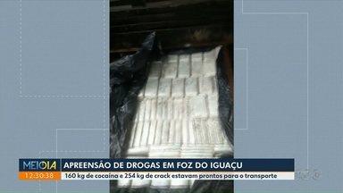 Batalhão da Fronteira apreende 160 kg de cocaína e mais de 200 kg de crack - Carga estava em um caminhão.