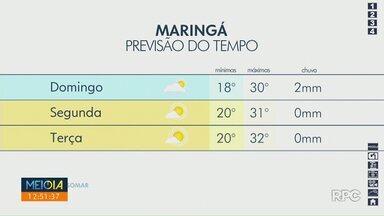 Próxima semana começa com tempo estável em Maringá - Confira na previsão do tempo.