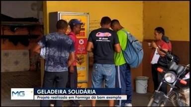 'Geladeira Solidária' oferece alimentos de graça para moradores em situação de rua em Form - Desde a inauguração do projeto, mais de cinco mil pequenas refeições foram servidas à população. Alimentos são ofertados de segunda a sábado no Centro da cidade.
