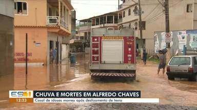 Chuva deixa três pessoas mortas em Alfredo Chaves, no Sul do ES - Este foi o município em que mais choveu no ES. Foram 249.2 milímetros.