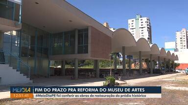 Prazo para reforma do Museu de Artes termina na próxima semana - De acordo com a secretaria de Cultura a obra será entregue no prazo, falta limpeza e pintura. Já a obra da Biblioteca Municipal teve o prazo prorrogado, a reforma custou R$ 320 mil.