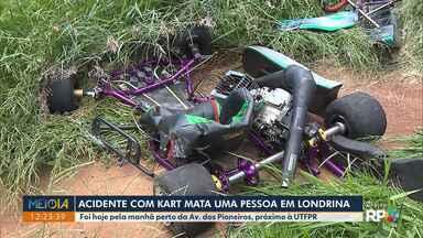Homem morre em acidente de kart na região Leste de Londrina - De acordo com a polícia o homem perdeu o controle do kart e bateu contra um poste na Av. dos Pioneiros.