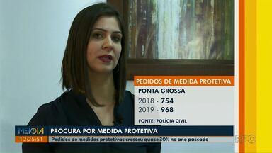 Casos de violência contra a mulher crescem no Paraná - Em Ponta Grossa os pedidos de medidas protetivas cresceu quase 30% em 2019.