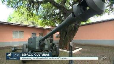 Com canhão da 2ª Guerra Mundial e peças do século 19, museu militar é aberto em Campinas - Local, instalado na Fazenda Chapadão, propõe aos visitantes uma imersão na história dos militares campineiros. Visitação é gratuita e ocorre de segunda a sexta-feira, das 10h às 16h.