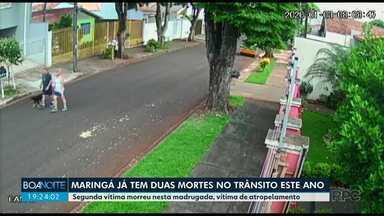 Maringá já soma duas mortes no trânsito em 2020 - Nos dois casos, vítimas foram atropeladas