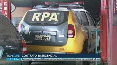 Governo do Paraná anuncia contrato emergencial para contratar empresa para gerir frota - O processo de licitação será dispensado para realização do contrato emergencial.
