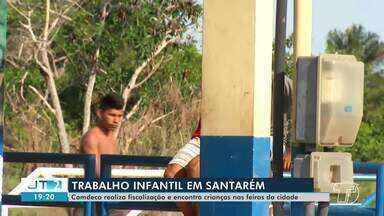 Órgão de proteção criança e adolescente combatem o trabalho infantil em Santarém - Comdeca realiza fiscalização e encontra crianças nas feiras da cidade.