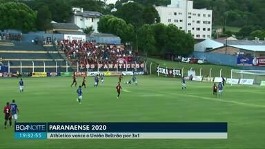 Paranaense 2020; Athletico vence o União Beltrão por 3x1 - O Toledo e os dois times de Cascavel jogam neste domingo.