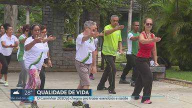Neste fim de semana foi dada a largada para o Caminhar 2020 - Iniciativa vai passar por Contagem e Betim, na Região Metropolitana, e por várias praças da capital, para trazer mais saúde e qualidade de vida para a população.