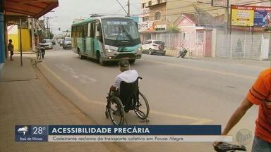 Cadeirantes reclamam do transporte coletivo em Pouso Alegre (MG) - Cadeirantes reclamam do transporte coletivo em Pouso Alegre (MG)