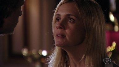 Carminha confronta Max - Ela oferece dinheiro para comprar o silêncio do vigarista