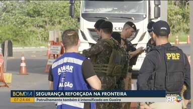 Segurança reforçada na Fronteira - Patrulhamento também é intensificado em Guaíra depois da fuga de presídio que fica na fronteira do Paraguai com o Brasil.